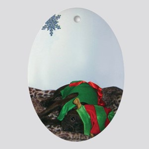 The Elf Oval Ornament