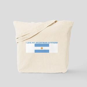 I LOVE MY ARGENTINIAN BOYFRIE Tote Bag