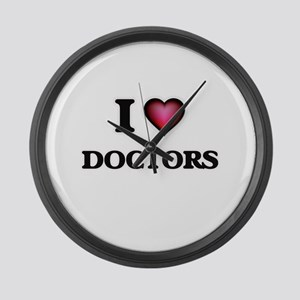 I love Doctors Large Wall Clock