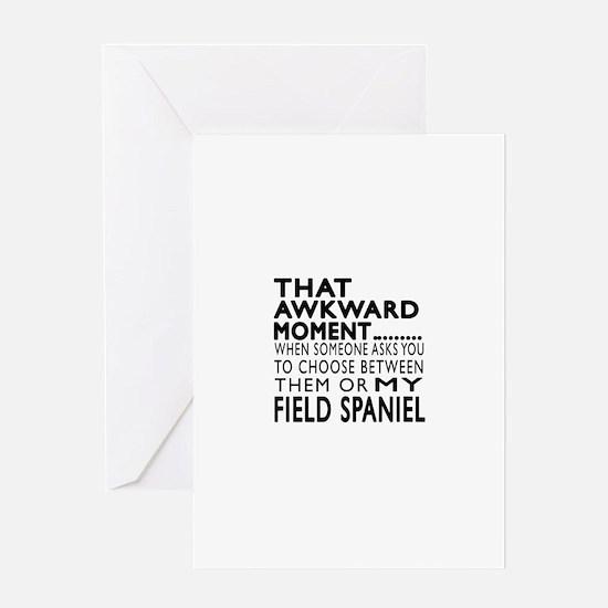 Awkward Field Spaniel Dog Designs Greeting Card