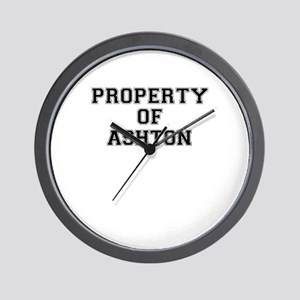 Property of ASHTON Wall Clock