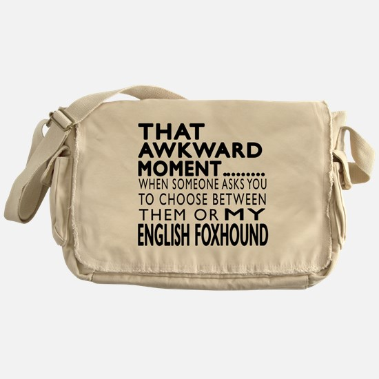Awkward English Foxhound Dog Designs Messenger Bag