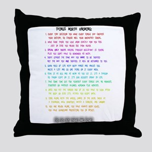 10 Things Throw Pillow