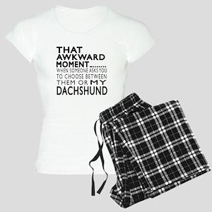 Awkward Dachshund Dog Desig Women's Light Pajamas