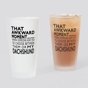 Awkward Dachshund Dog Designs Drinking Glass