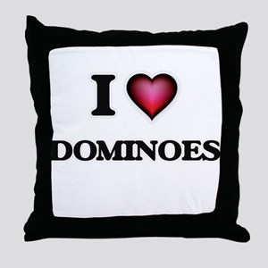 I love Dominoes Throw Pillow