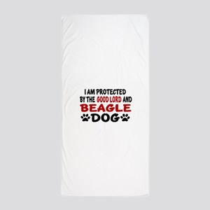Protected By Beagle Beach Towel