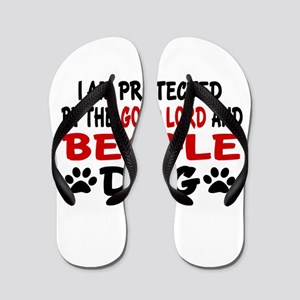 Protected By Beagle Flip Flops
