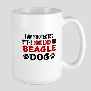 Protected By Beagle Large Mug
