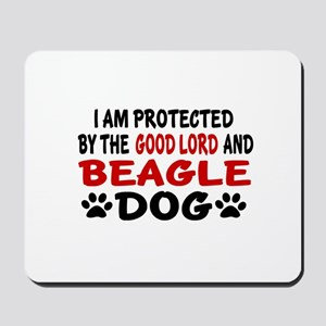Protected By Beagle Mousepad