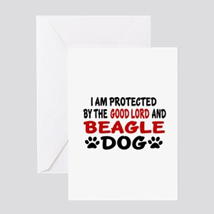 Protected By Beagle Greeting Card