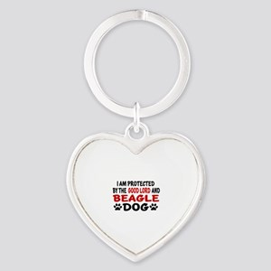 Protected By Beagle Heart Keychain