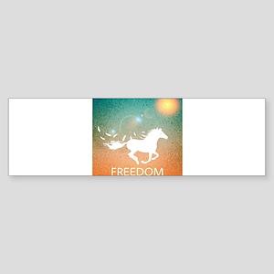Freedom Horse Bumper Sticker
