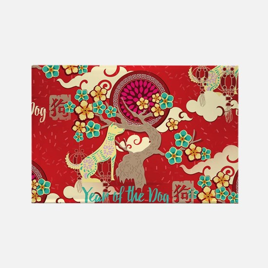 Cute Chinese new year Rectangle Magnet