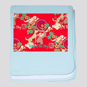 chinese new year dog baby blanket