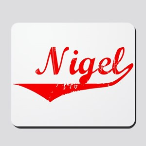 Nigel Vintage (Red) Mousepad