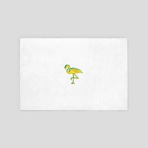 Neon Yellow Flamingo 4' x 6' Rug
