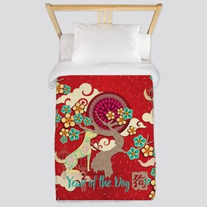 chinese new year dog Twin Duvet Cover
