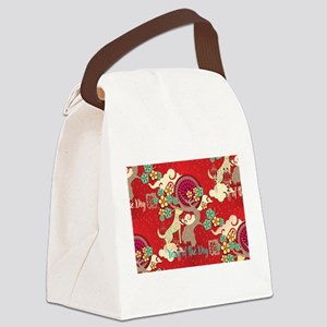 chinese new year dog Canvas Lunch Bag