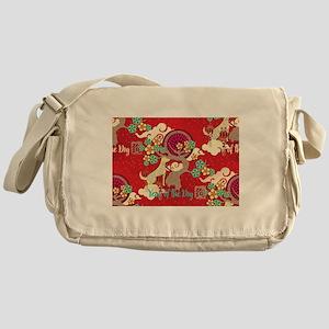 chinese new year dog Messenger Bag