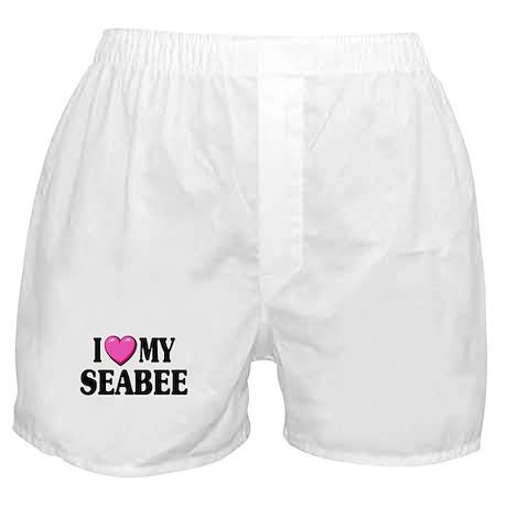 I Love ( Heart ) My Seabee Boxer Shorts