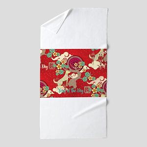 chinese new year dog Beach Towel