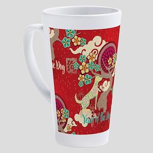 chinese new year dog 17 oz Latte Mug