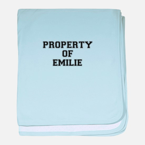 Property of EMILIE baby blanket