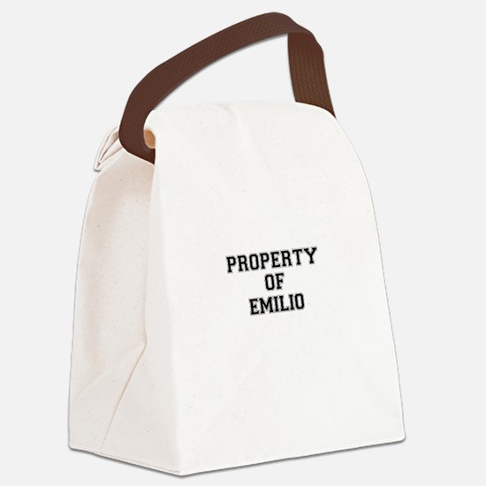 Property of EMILIO Canvas Lunch Bag
