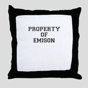 Property of EMISON Throw Pillow
