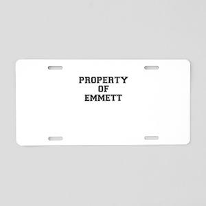 Property of EMMETT Aluminum License Plate