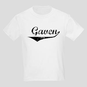 Gaven Vintage (Black) Kids Light T-Shirt