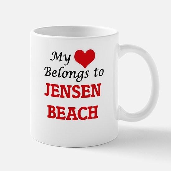 My Heart Belongs to Jensen Beach Florida Mugs