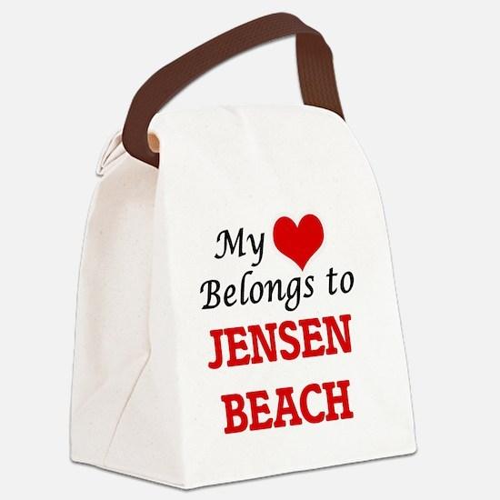 My Heart Belongs to Jensen Beach Canvas Lunch Bag
