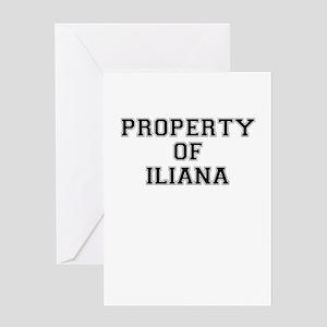 Property of ILIANA Greeting Cards
