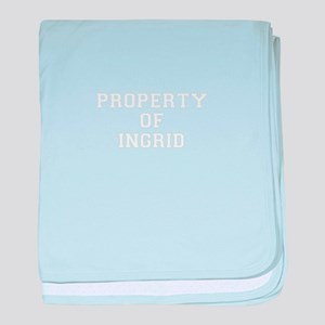 Property of INGRID baby blanket