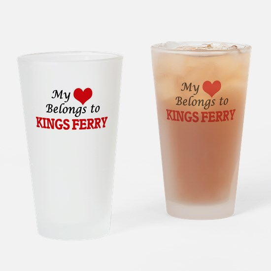 My Heart Belongs to Kings Ferry Geo Drinking Glass