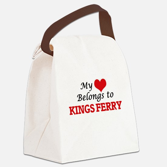 My Heart Belongs to Kings Ferry G Canvas Lunch Bag