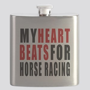 My Hear Beats For Horse Racing Flask