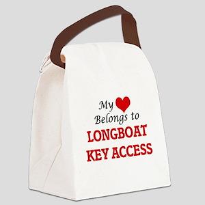 My Heart Belongs to Longboat Key Canvas Lunch Bag