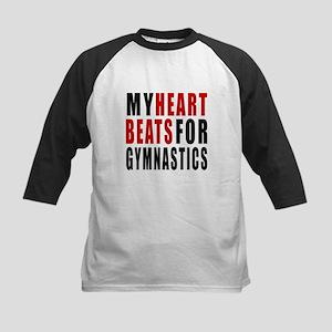 My Hear Beats For Gymnastics Kids Baseball Jersey