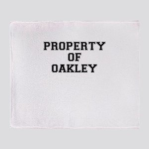 Property of OAKLEY Throw Blanket