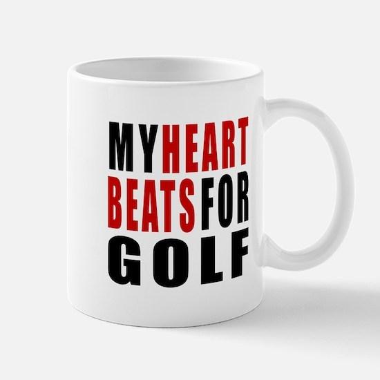 My Hear Beats For Golf Mug
