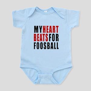My Hear Beats For Foosball Infant Bodysuit