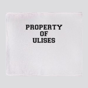 Property of ULISES Throw Blanket