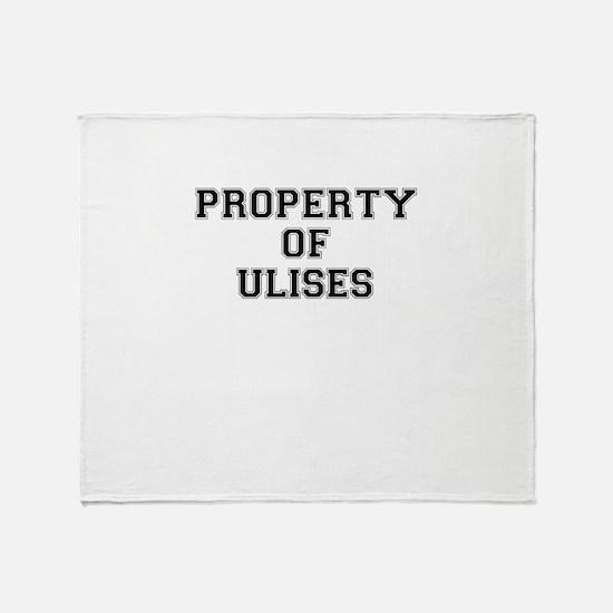 Property of ULISES Throw Blanket