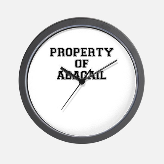 Property of ABAGAIL Wall Clock