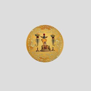Egyptian women on a throne Mini Button