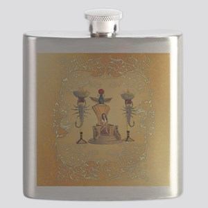 Egyptian women on a throne Flask