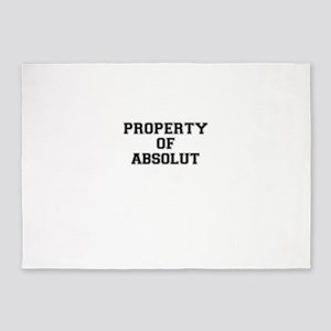Property of ABSOLUT 5'x7'Area Rug